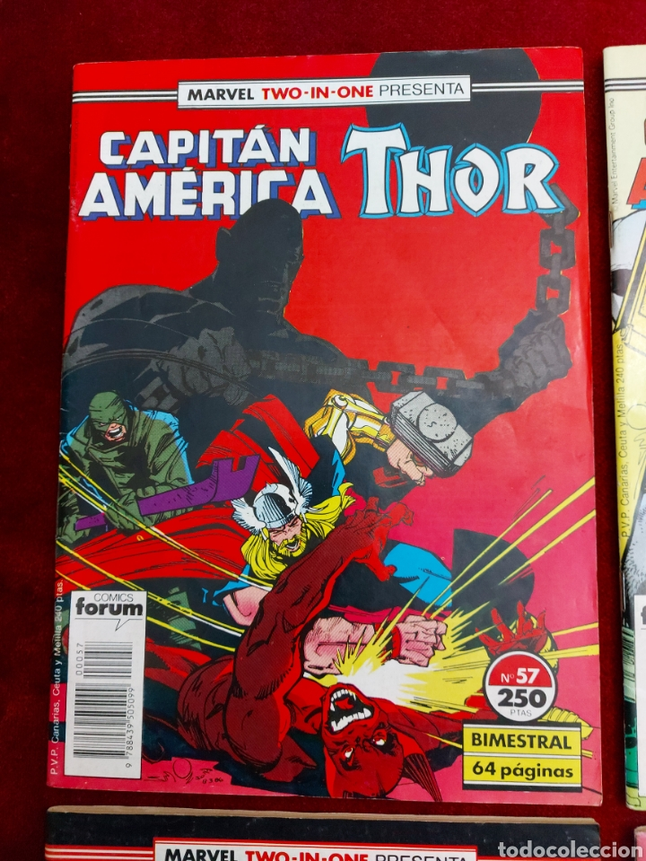 Cómics: MARVEL TWO-IN-ONE CAPITÁN AMÉRICA THOR, NUMEROS :57,58,59 Y 65./SUPER HEROES LOS VENGADORES, COMIC - Foto 2 - 245922330