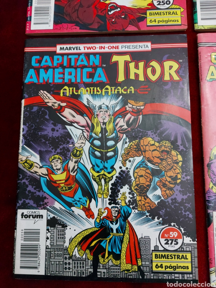Cómics: MARVEL TWO-IN-ONE CAPITÁN AMÉRICA THOR, NUMEROS :57,58,59 Y 65./SUPER HEROES LOS VENGADORES, COMIC - Foto 4 - 245922330