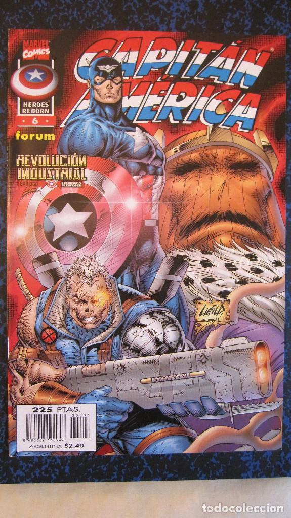 CAPITAN AMERICA Nº 6. HEROES REBORN. REVOLUCION INDUSTRIAL EPILOGO. IMPECABLE (Tebeos y Comics - Forum - Capitán América)