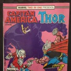 Cómics: CAPITÁN AMÉRICA & THOR VOL.1 MARVEL TWO IN ONE N.55 PAZ EN LA TIERRA ( 1985/1992 ). Lote 246283065