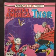 Cómics: CAPITÁN AMÉRICA & THOR VOL.1 MARVEL TWO IN ONE N.55 PAZ EN LA TIERRA ( 1985/1992 ). Lote 246283370