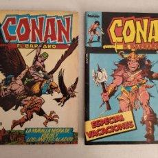 Cómics: 2 CONAN EL BARBARO - ESPECIAL VACACIONES Y Nº12 - COMICS FORUM. Lote 248250870