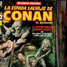 Cómics: LA ESPADA SALVAJE DE CONAN EL BARBARO. COMICS FORUM, SERIE ORO. LOTE DE 17 COMICS. VER DESCRIPCION. Lote 248266240