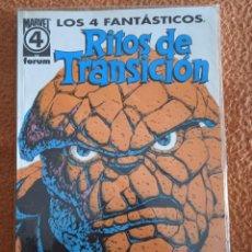 Cómics: LOS 4 FANTASTICOS RITOS DE TRANSICION. Lote 248557470