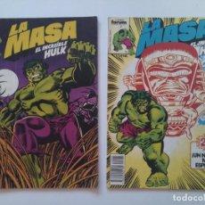 Cómics: LOTE 2 COMICS ORIGINALES - LA MASA - EL INCREIBLE HULK - Nº1 Y 25 - FORUM - AÑO 1983...L3658. Lote 248686380