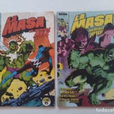 Cómics: LOTE 2 COMICS ORIGINALES - LA MASA - EL INCREIBLE HULK - Nº32 Y 35 - FORUM - AÑO 1985...L3659. Lote 248686905