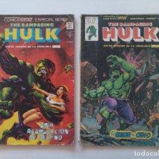 Cómics: LOTE 2 COMICS - THE RAMPAGING HULK - VOL 1 Nº13 - ESPECIAL Nº8 - MUNDI COMICS - AÑO 1979/80...L3660. Lote 248687750
