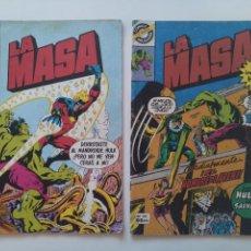 Cómics: LOTE 2 COMICS ORIGINALES - LA MASA - EL INCREIBLE HULK - Nº16 Y 26 - FORUM - AÑO 1982...L3661. Lote 248688225