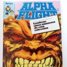 Cómics: ALPHA FLIGHT - RETAPADO, CONTIENE CINCO NÚMEROS DEL 6 AL 10 - FORUM (SIN USAR). Lote 249147600