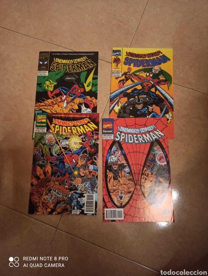 LOS ENEMIGOS LETALES DE SPIDERMAN FORUM 4 NUMEROS COMPLETA (Tebeos y Comics - Forum - Spiderman)