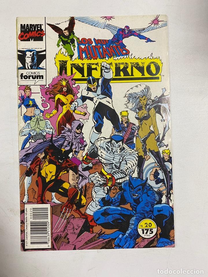 LOS NUEVOS MUTANTES - INFERNO. Nº 20 - CENIZAS A LAS CENIZAS. MARVEL COMICS. COMICS FORUM (Tebeos y Comics - Forum - Nuevos Mutantes)