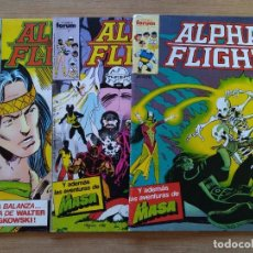 Cómics: LOTE 3 COMICS ORIGINALES - ALPHA FLIGHT- Nº 20, 32 Y 34 - MARVEL - COMICS FORUM - AÑOS 80 ...L3714. Lote 251011825