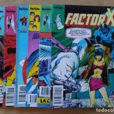 Cómics: LOTE 6 COMICS ORIGINALES - FACTOR X - MARVEL - COMICS FORUM - AÑOS 80 ...L3716. Lote 251016890