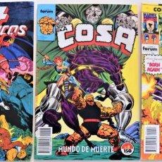 Cómics: LOTE 3 TEBEOS FORUM - LOS 4 FANTÁSTICOS Nº 83 - DAREDEVIL Nº 58 - LA COSA Nº 8. Lote 251196720
