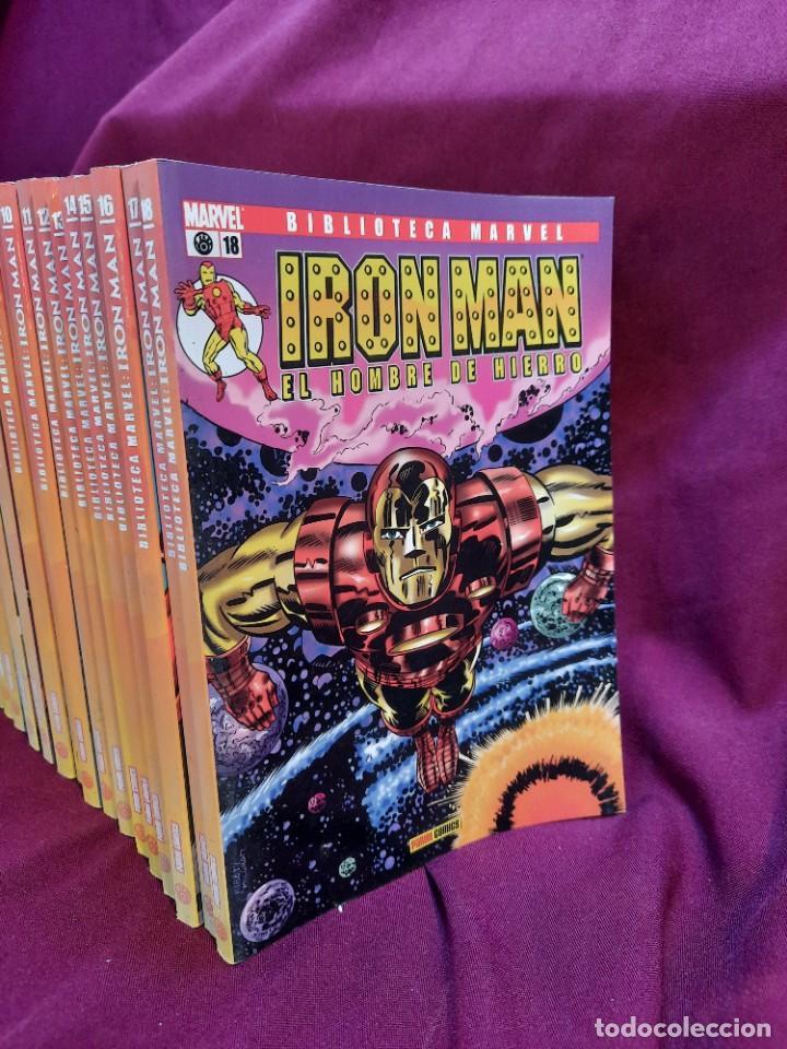Cómics: BIBLIOTECA MARVEL IRON MAN PANINI COMICS 19 TOMOS - Foto 2 - 251359935