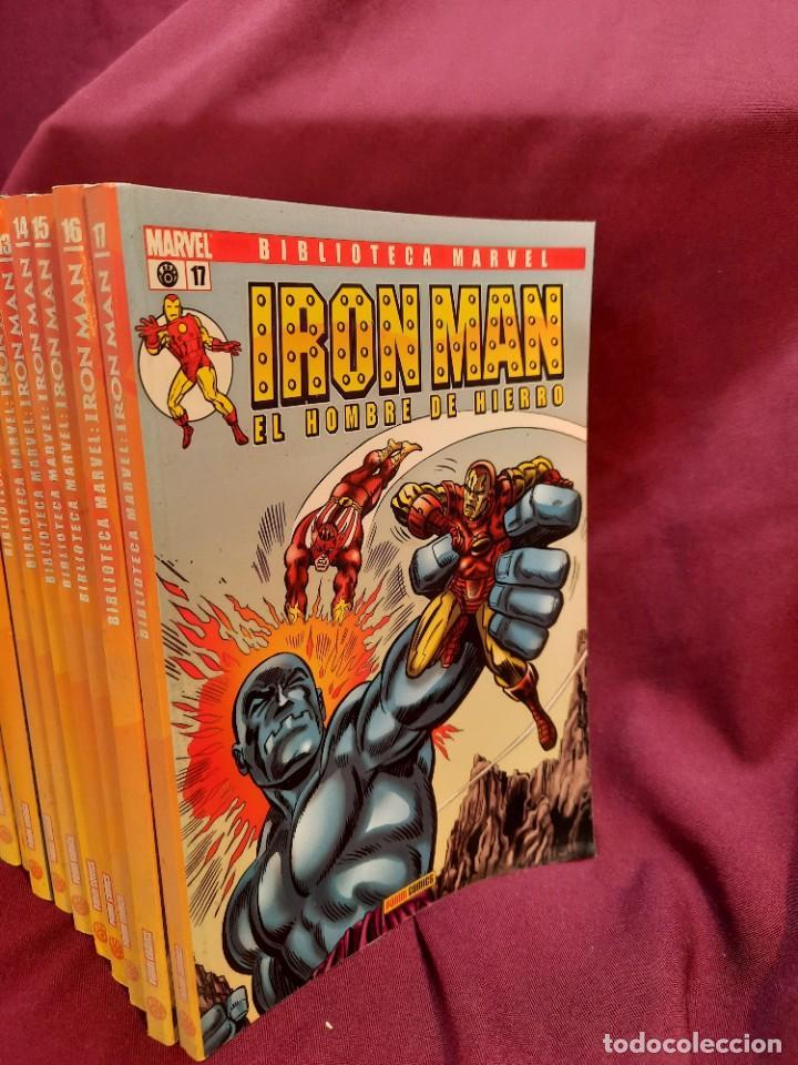 Cómics: BIBLIOTECA MARVEL IRON MAN PANINI COMICS 19 TOMOS - Foto 3 - 251359935