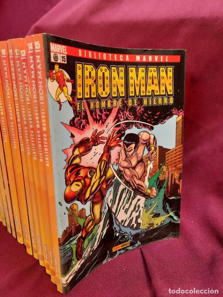 Cómics: BIBLIOTECA MARVEL IRON MAN PANINI COMICS 19 TOMOS - Foto 4 - 251359935