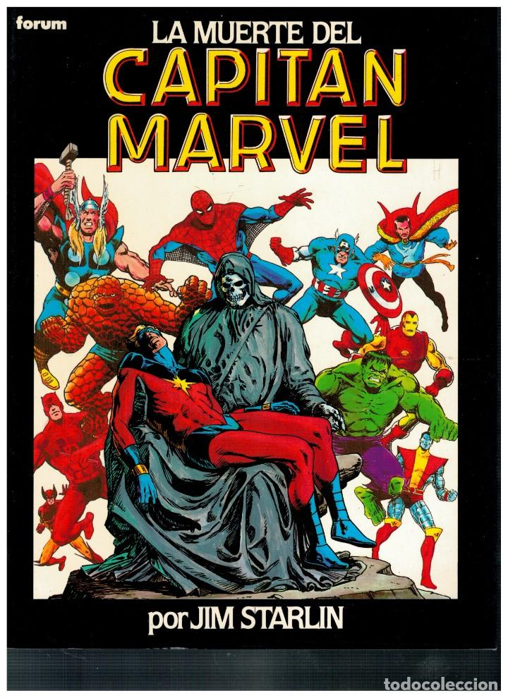 NOVELAS GRÁFICAS FORUM 7. LA MUERTE DEL CAPITAN MARVEL. EXCELENTE. (Tebeos y Comics - Forum - Prestiges y Tomos)