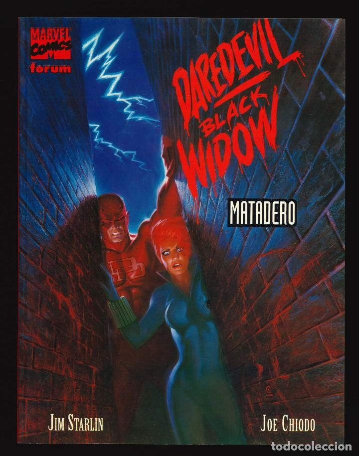 NOVELAS GRÁFICAS MARVEL - FORUM / NÚMERO 19 (DAREDEVIL - VIUDA NEGRA. MATADERO) (Tebeos y Comics - Forum - Prestiges y Tomos)