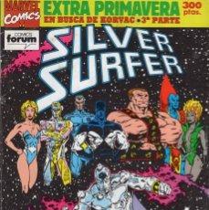 Cómics: SILVER SURFER EXTRA PRIMAVERA 1992 (INCLUYE POSTER) FORUM. Lote 252497430