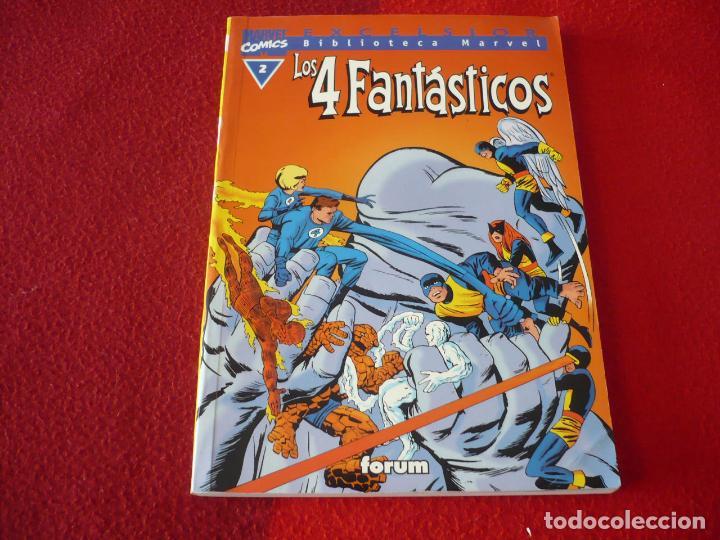 LOS 4 FANTASTICOS Nº 2 BIBLIOTECA MARVEL ( STAN LEE KIRBY ) ¡MUY BUEN ESTADO! FORUM (Tebeos y Comics - Forum - 4 Fantásticos)
