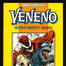 Cómics: VENENO. GUERRA DE SIMBIONTES / MATANZA DESENCADENADO - FORUM / DOS COLECCIONES EN UN TOMO RETAPADO. Lote 253708165