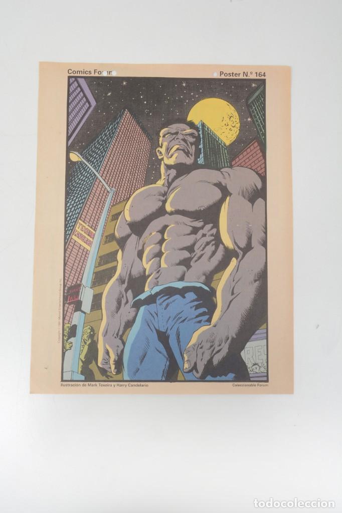 Cómics: Poster vintage de Coleccionable Forum 1991 Hulk La masa Marvel Mark Texeira y Harry Candelario - Foto 2 - 254083845