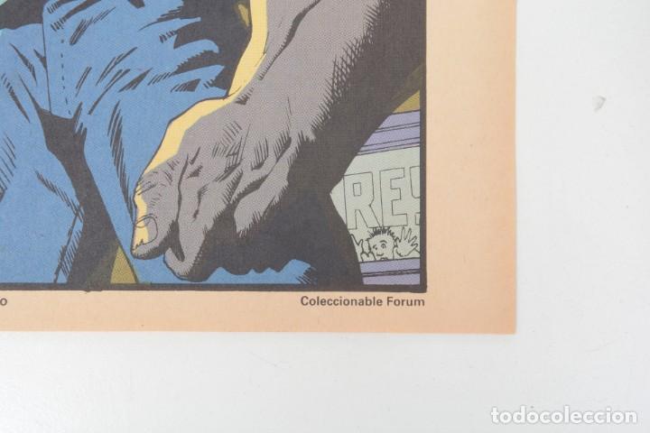 Cómics: Poster vintage de Coleccionable Forum 1991 Hulk La masa Marvel Mark Texeira y Harry Candelario - Foto 5 - 254083845