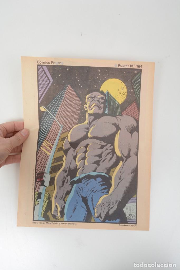 Cómics: Poster vintage de Coleccionable Forum 1991 Hulk La masa Marvel Mark Texeira y Harry Candelario - Foto 8 - 254083845
