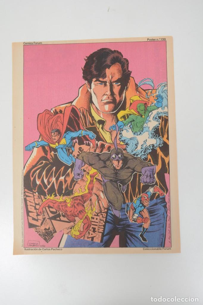 POSTER VINTAGE DE COLECCIONABLE FORUM 1989 CAPITÁN AMÉRICA SUPERHEROES DE MARVEL (Tebeos y Comics - Forum - Hulk)