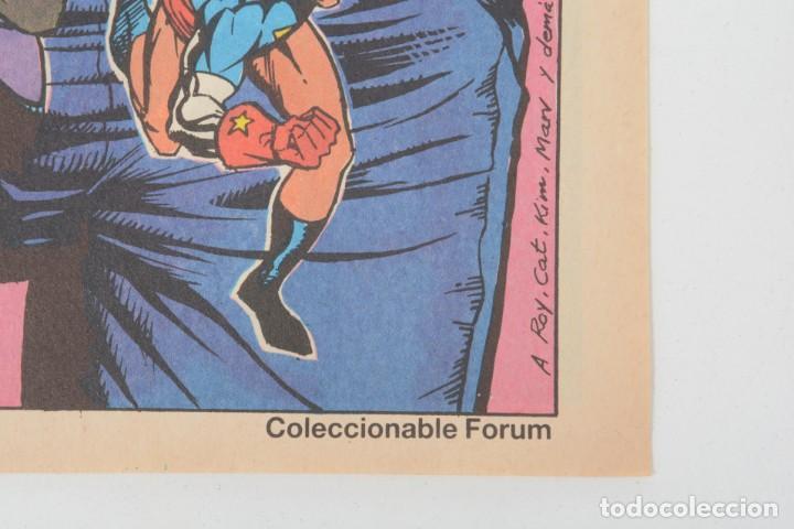 Cómics: Poster vintage de Coleccionable Forum 1989 Capitán América superheroes de Marvel - Foto 8 - 254085285