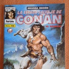Cómics: LA ESPADA SALVAJE DE CONAN 108 SEGUNDA EDICIÓN-FORUM. Lote 254214255