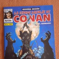 Cómics: LA ESPADA SALVAJE DE CONAN 109 SEGUNDA EDICIÓN-FORUM. Lote 254214355