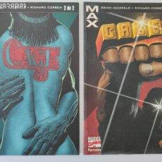 Cómics: MAX - CAGE - COMPLETA (2 COMICS) - MARVEL COMICS FORUM - BRIAN AZZARELO, RICHARD CORBEN. Lote 254292985