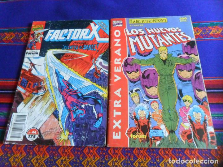 FORUM VOL. 1 LOS NUEVOS MUTANTES EXTRA VERANO 1991 DÍAS DEL FUTURO PRESENTE. REGALO FACTOR Nº 44. (Tebeos y Comics - Forum - Nuevos Mutantes)
