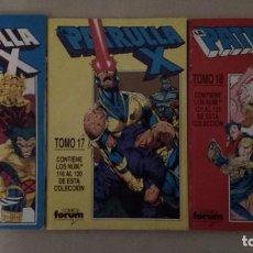 Comics: LA PATRULLA-X LOTE 3 RETAPADOS (TOMOS 16 A 18) CONTIENEN 111 A 125. Lote 254801230