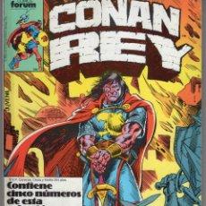 Cómics: CONAN REY RETAPADO CON LOS NUMEROS 51 A 55 - FORUM - MUY BUEN ESTADO. Lote 256257000