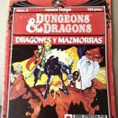 Cómics: DRAGONES Y MAZMORRAS N 2 - EL VALLE DE LOS UNICORNIOS ED. COMICS FORUM. Lote 257505120