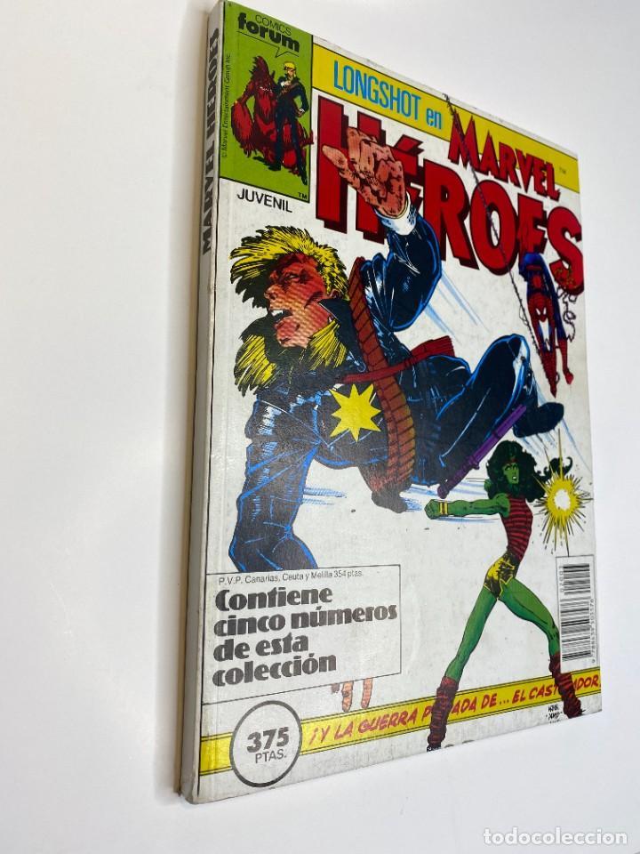 MARVEL HEROES (LONGSHOT) HULKA, SPIDER-MAN Y EL CASTIGADOR. (1988) (Tebeos y Comics - Forum - Retapados)