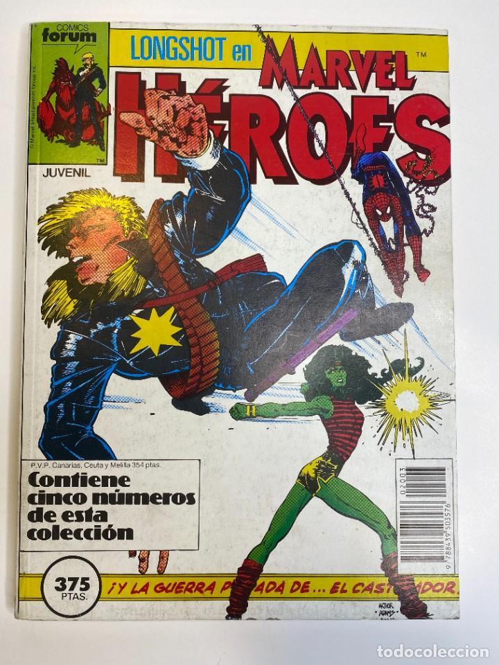 Cómics: Marvel Heroes (Longshot) Hulka, Spider-Man y El Castigador. (1988) - Foto 2 - 260400180