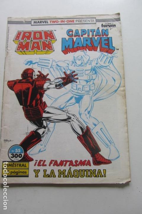 MARVEL TWO IN ONE IRON MAN CAPITAN MARVEL Nº 55 FORUM MUCHOS EN VENTA MIRA TUS FALTAS ARX95 (Tebeos y Comics - Forum - Iron Man)