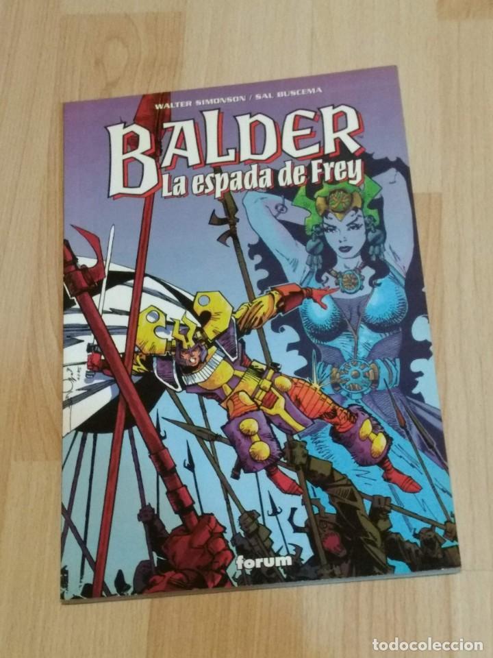 BALDER LA ESPADA DE FREY TOMO ÚNICO FORUM.WALTER SIMONSON /SAL BUSCEMA (Tebeos y Comics - Forum - Thor)