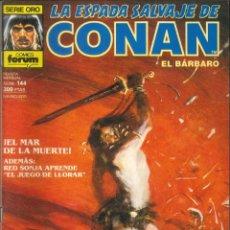 Comics : LA ESPADA SALVAJE DE CONAN CÓMICS FÓRUM NÚMERO 144. Lote 261195730
