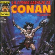 Cómics: LA ESPADA SALVAJE DE CONAN CÓMICS FÓRUM NÚMERO 168. Lote 261199905