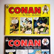 Cómics: CONAN LAS DAILY-STRIP COMICS 1 Y 2. Lote 261290255