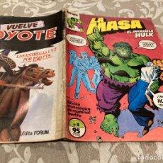 Cómics: LA MASA EL INCREIBLE HULK VOL 1 N°8 - EDICIONES FORUM. Lote 261365880