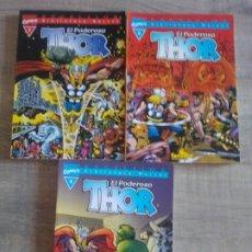 Cómics: BIBLIOTECA MARVEL: EL PODEROSO THOR - 1,2 Y 5 - MARVEL COMICS. Lote 261587610