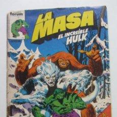 Cómics: LA MASA Nº 12 HULK FORUM MUCHOS EN VENTA MIRA TUS FALTAS ARX83. Lote 261616425