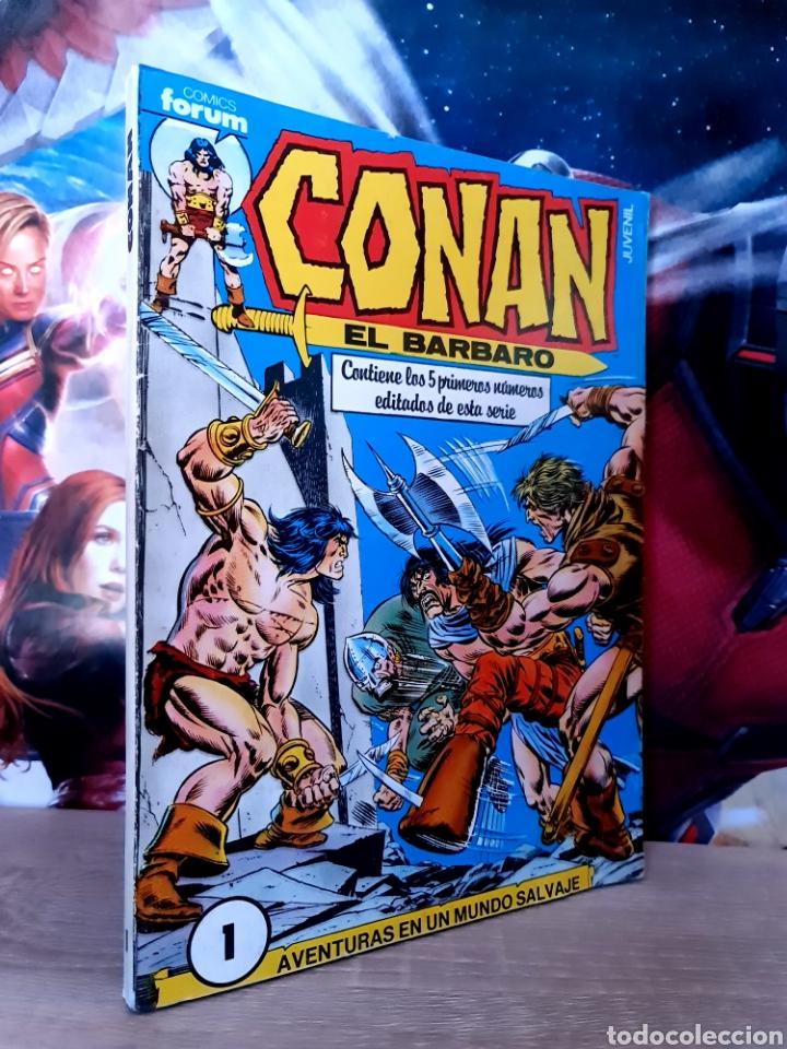 MUY BUEN ESTADO CONAN EL BARBARO 1 AL 5 RETAPADO COMICS FÓRUM (Tebeos y Comics - Forum - Retapados)