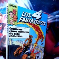 Cómics: MUY BUEN ESTADO LOS 4 FANTASTICOS 76 AL 80 RETAPADO COMICS FÓRUM. Lote 261788860